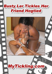 Busty Ler Tickles Her Friend Hogtied Box Cover