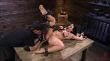 Device Bondage - Angela White Begs To Suffer For Her Master In Metal Bondage Clip 1 00:18:40