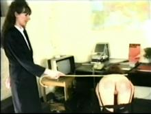 English Spanking Classic #24 - Big Bottoms Girls Caned Clip 1 00:16:40