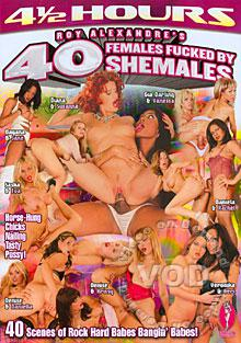 40 Females Fucked By Shemales Box Cover