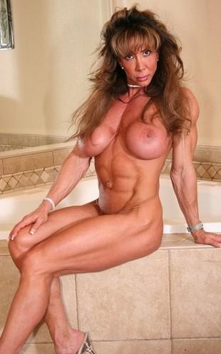 Female bodybuilding fbb bodybuilder muscle art 3