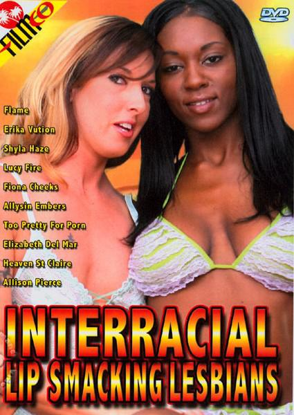 Interracial Lip Smacking Lesbians Box Cover