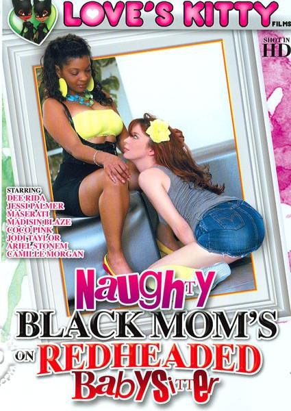 Naughty Black Mom's On Redheaded Babysitter Box Cover