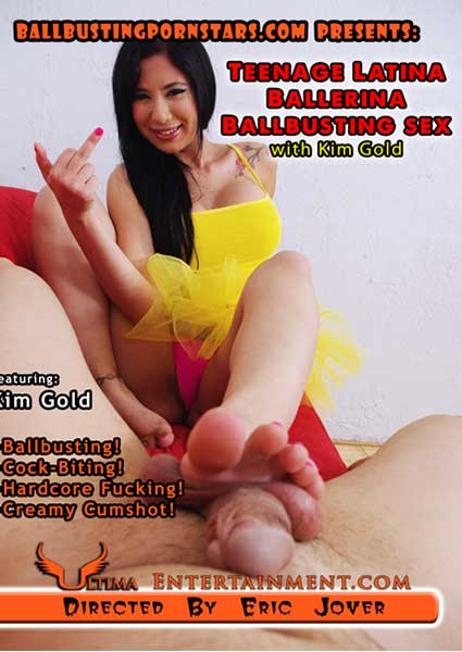 Teenage Latina Ballerina Ballbusting Sex With Kim Gold Box Cover