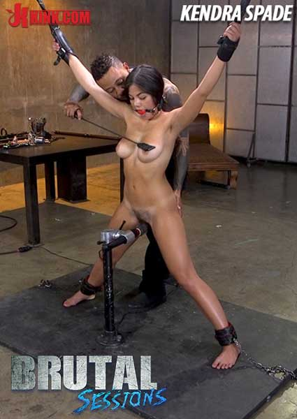 Brutal Sessions - Anal Whore Kendra Spade Tied In Bondage, Made To Fuck Enormous Dick! Box Cover